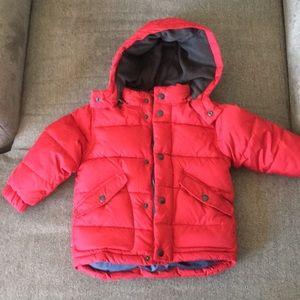 Gap boys puffer hooded winter jacket